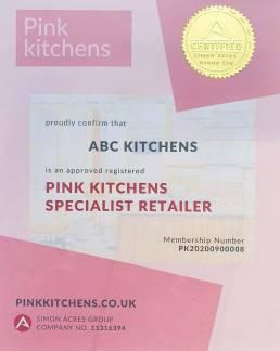 Pink Kitchen certificat